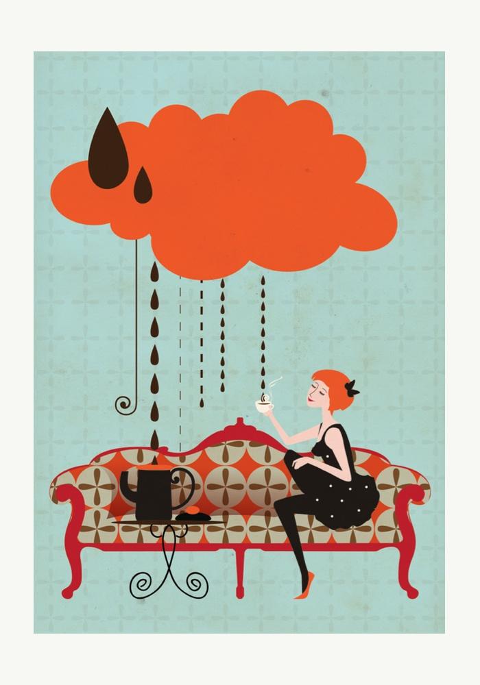 Sofá Café - Ilustrações