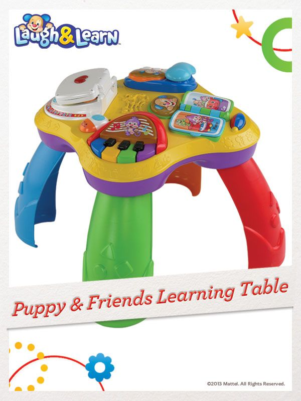At the Laugh & Learn Puppy & Friends Learning Table, your child will learn about letters, numbers, first words and more! For a chance to win, click here: http://fpfami.ly/014ez #FisherPrice #Toys
