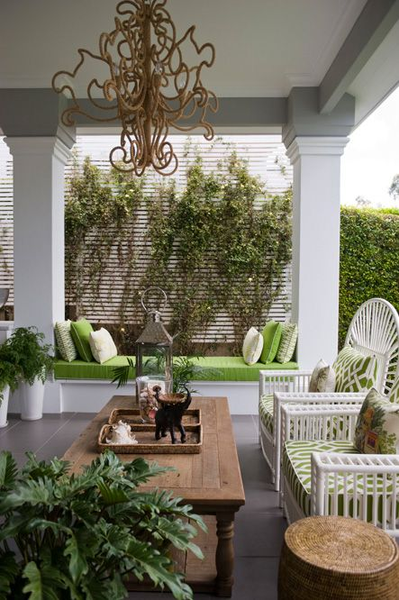 I want to copy this bench-between-two-massive-columns look for our covered patio.