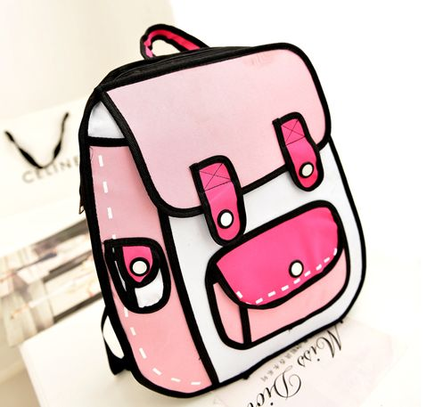 "Cute kawaii 3D canvas backpack  Coupon code ""cutekawaii"" for 10% off"