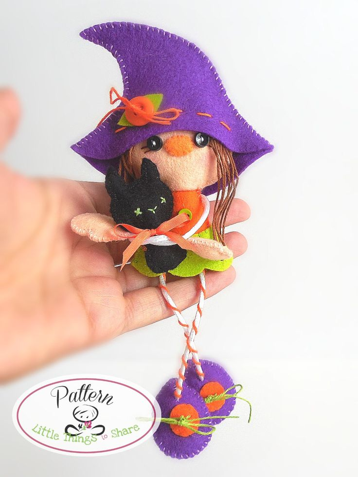 Witch and Cat PDF Sewing pattern-Halloween