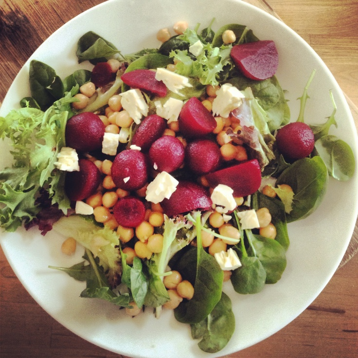Love this salad for when I am pressed for time! @Michelle Bridges Beetroot, Chickpea & Feta Salad, so simple & so #delicious