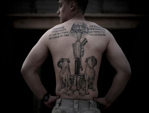 marine corps tattoos policy on back