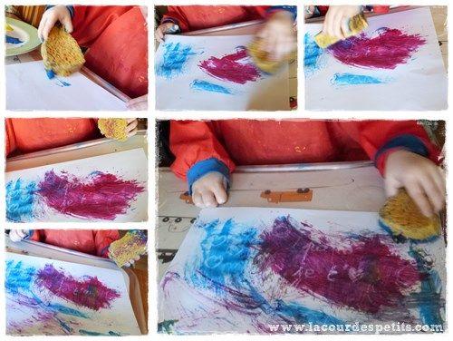 Peinture magique éponge