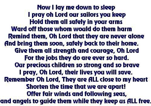 Sailor Moms Prayer