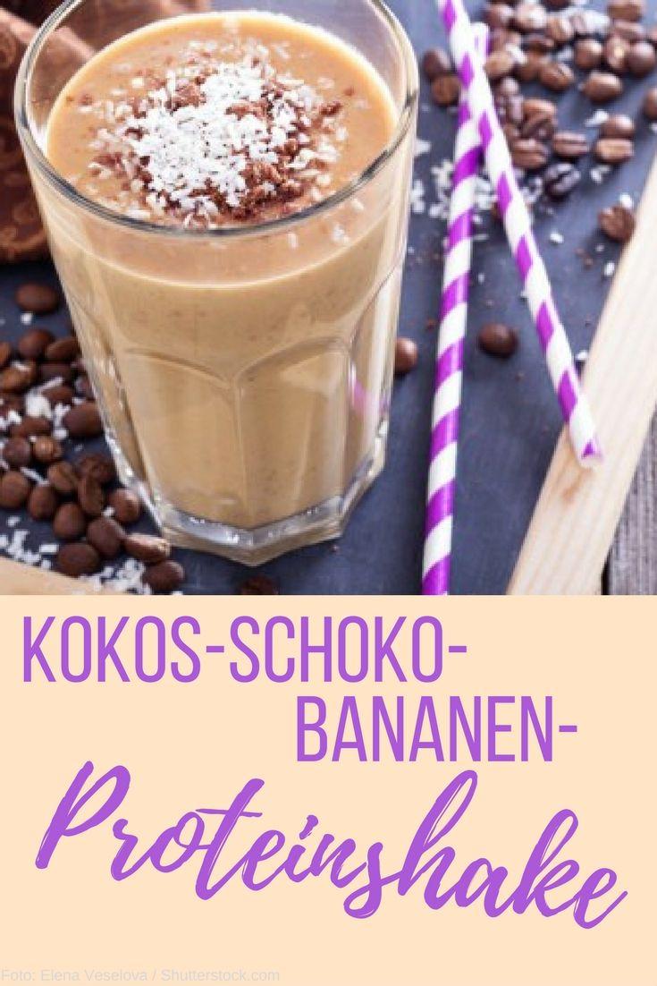Kokos-Schoko-Bananen-Proteinshake