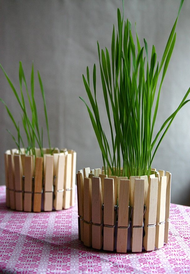 DIY Thursday Closepin Planter & Candle Holder #diy #crafts