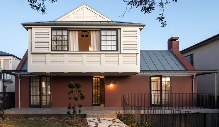 Balancing Home by Luigi Rosselli Architects   zinc standing seam roof   © Edward Birch #LuigiRosselliArchitects #LuigiRosselli #Architecture