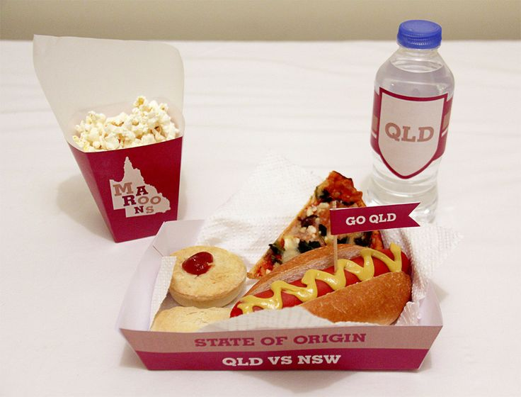 Queensland (Maroons) State of Origin Snack Box and Basket | Creative Sense Co
