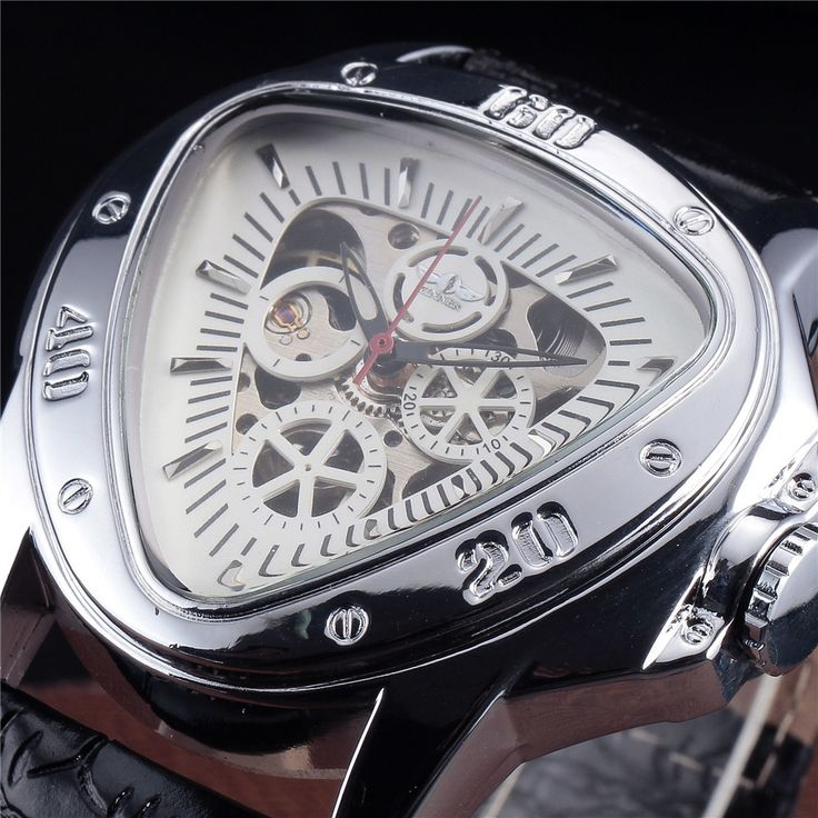 16.99$  Buy here - http://alii13.shopchina.info/1/go.php?t=32741857740 - 2016 Winner Mens Military Watches Automatic Mechanical Triangle Clock Men Sport Relogio Masculino Hollow Out Skeleton Watch Gift 16.99$ #buymethat