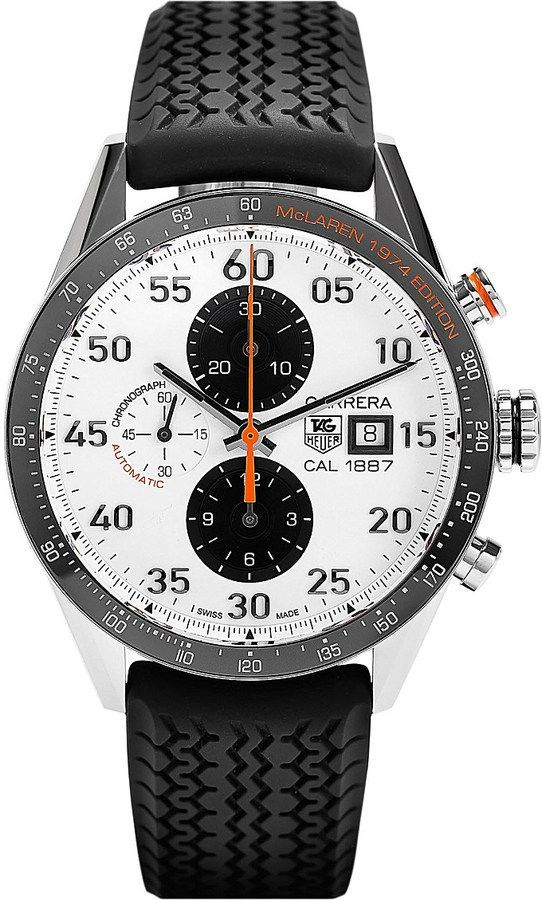 Tag Heuer Car2a12.ft6033 Mclaren Edition Carrera Chronograph Watch - for Men