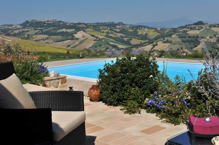 Italian hideaway for couples and families, luxury apartments in panoramic Le Marche, Italy