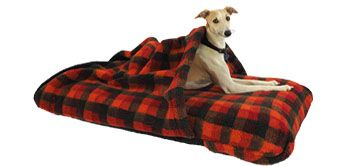 """The """"Tuffie Tunnel Cover"""" transforms our dog beds into a cosy cave dogs that love snuggling in warm beds"""