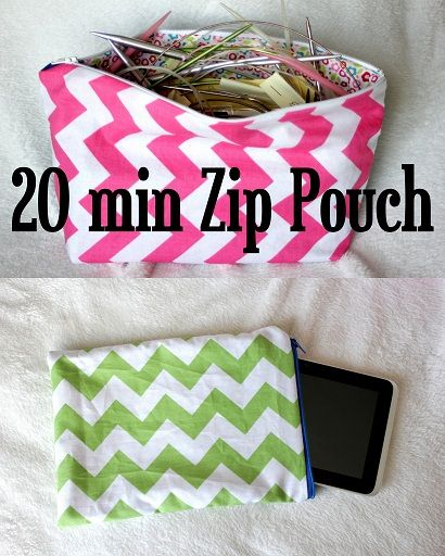 DIY Lined Zip Pouch Tutorial (2 Variations)