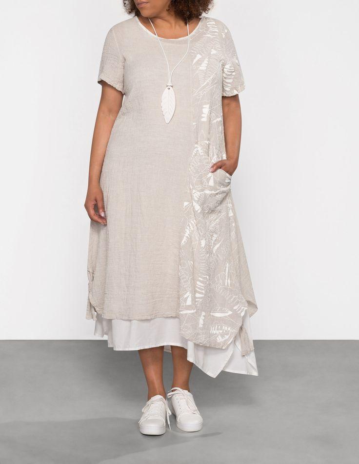 ZEDD PLUS - Layered linen blend dress - navabi