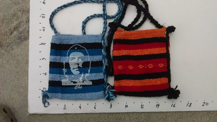 CHE GUEVARA & MEXICAN HANDMADE small hand bags,  LOT OF 2, near mint