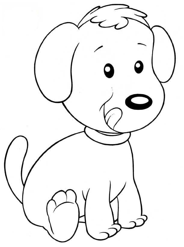 Desenhos de Cachorros para Colorir em Atividades Escolares