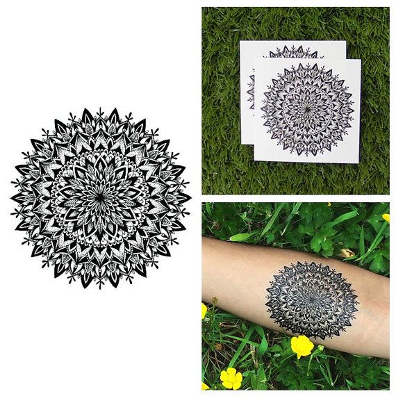 Intricate Flower Mandala Symmetrical Henna Detailed