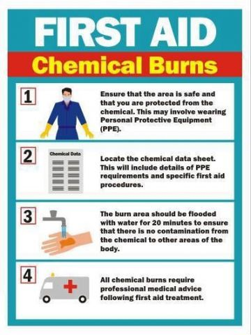 First Aid For Chemical Burns. In case of burns, you can use a B&W ointment, which uses all natural ingredients to help soft tissue heal faster, while keeping the wound sterile, and soothing pain. If you want to learn more about this item, read the following article from our website: http://insidefirstaid.com/personal/first-aid-kit/burn-and-wound-ointment-bw-an-all-natural-burn-treatment  #first #aid #chemical #burns #ointment #health #skin