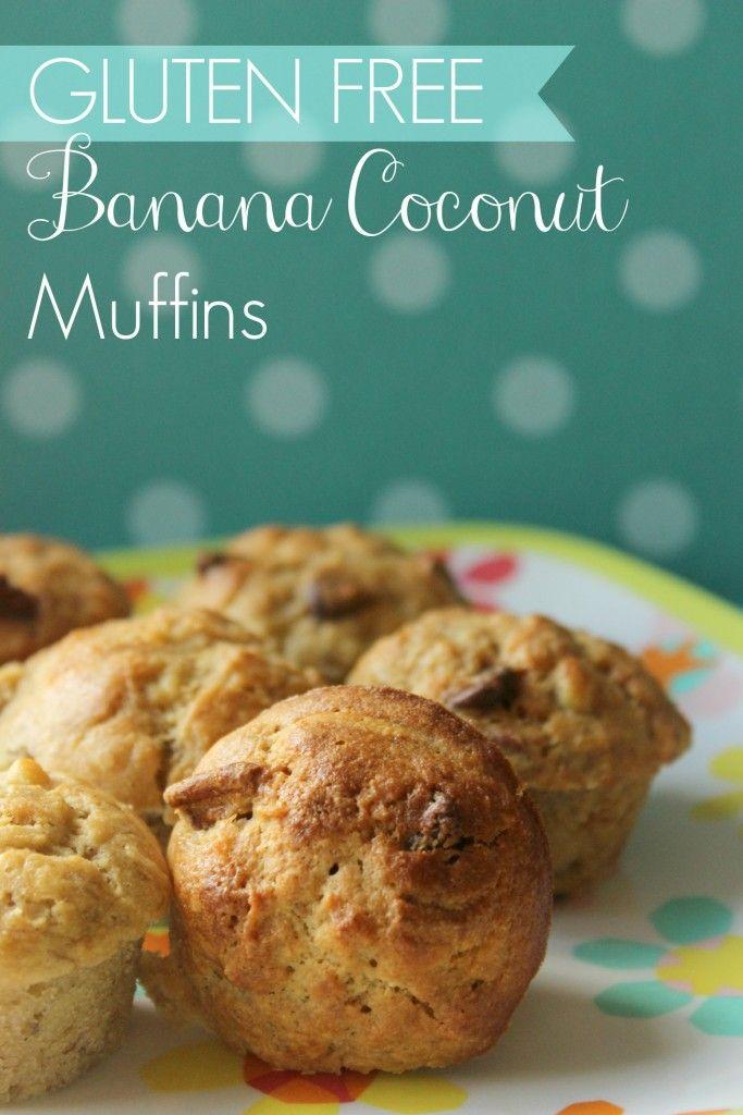{Banana Coconut Muffins} *Super moist & tasty