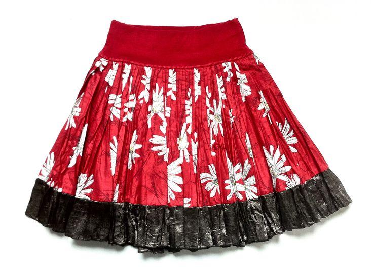 Floral Print Japanese Cotton Skirt w/ Satin Trim |  KAF KIDS : 51 Mackelvie Street, Grey Lynn, Auckland. #kidsfashion  http://kafkids.co.nz/