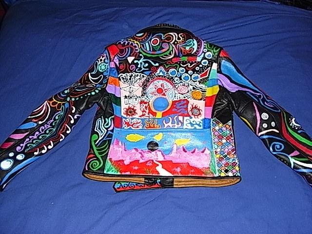 Custom Hand Painted Leather Jacket Design Pinterest