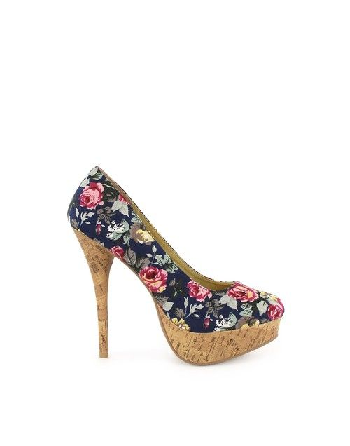Flowery - Sugarfree Shoes - Navy - Uitgaansschoenen - Schoenen ↖(^ω^)↗