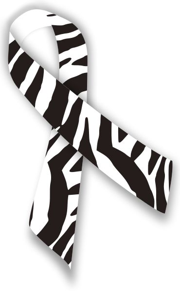Zebra Ribbon for Rare Disease Awareness. -- Zebra stripes are my thing, so this is quite fitting.