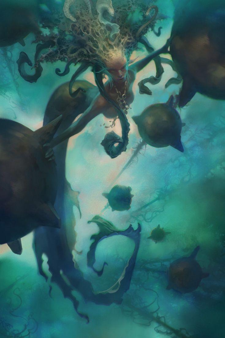 TempestThe Artists, The Ocean, Fantasy Art, Digital Art, Brandon Kitkouski, Fantasy Mermaid, Illustration Art, Greek Mythology, The Sea
