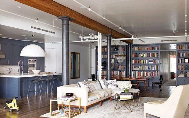 Christiana Lemieuxs living room in New York