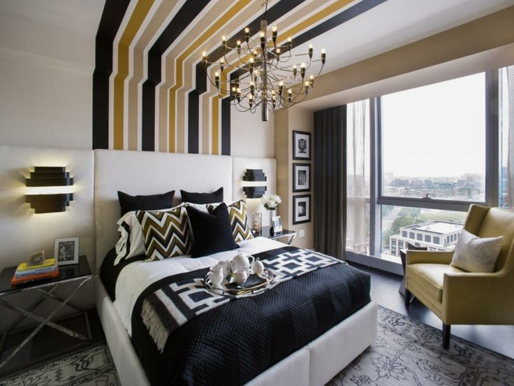 chambre moderne et tête de lit en tissu blanche