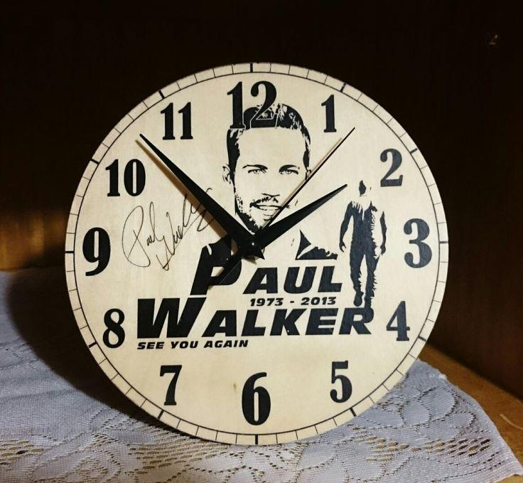 Egyedi falióra-Paul Walker
