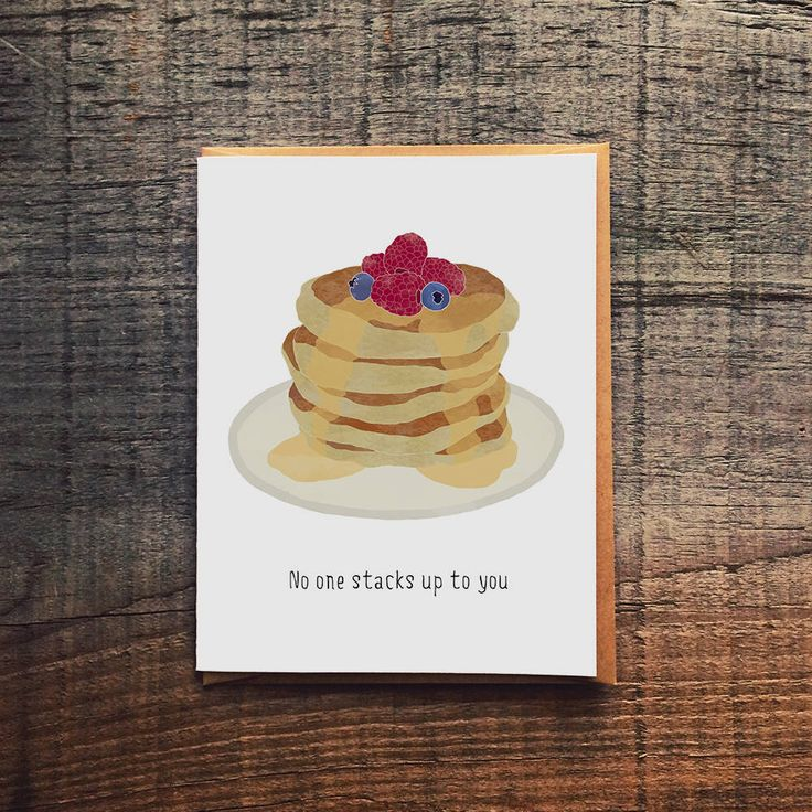 No One Stacks Up To You - Pancake Stack by PaperWolfDsgn on Etsy