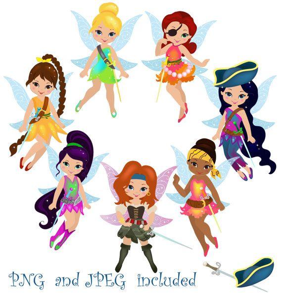 50 Fairies Pirates Digital ClipArt / Fairy by SandyDigitalArt, $2.50