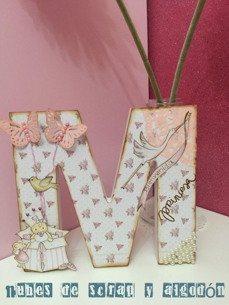 M s de 25 ideas fant sticas sobre letras para nombres de madera en pinterest letras de madera - Letras decoradas scrap ...