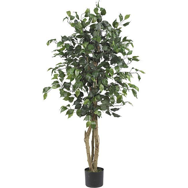 Ficus 4-foot Silk Tree | Overstock.com Shopping - The Best Deals on Silk Plants
