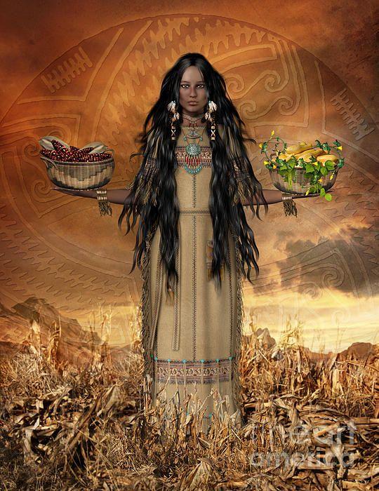 Three Sisters-Native American Art Art by Shanina Conway on Fine Art America ~ prints starting @ $22