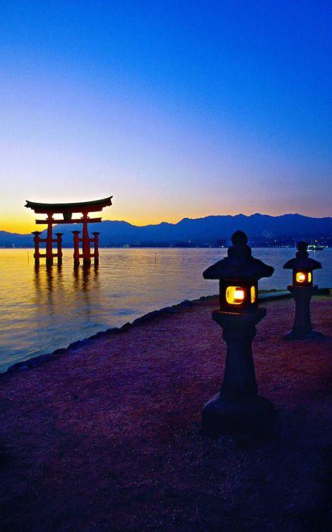 exoticana:  Floating Torii Gate, Itsukushima Shrine, Miyajima, Hiroshima, Japan