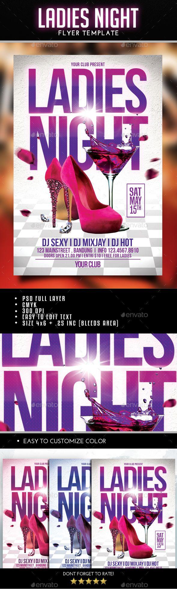 Ladies Night Flyer -  Download Here: http://graphicriver.net/item/ladies-night-flyer/14982202