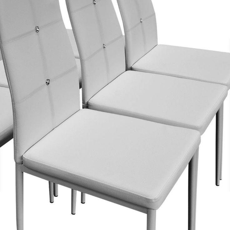 Stühle Stuhl Set Esszimmerstühle Esszimmerstuhl Polsterstuhl Essgruppe Weiß