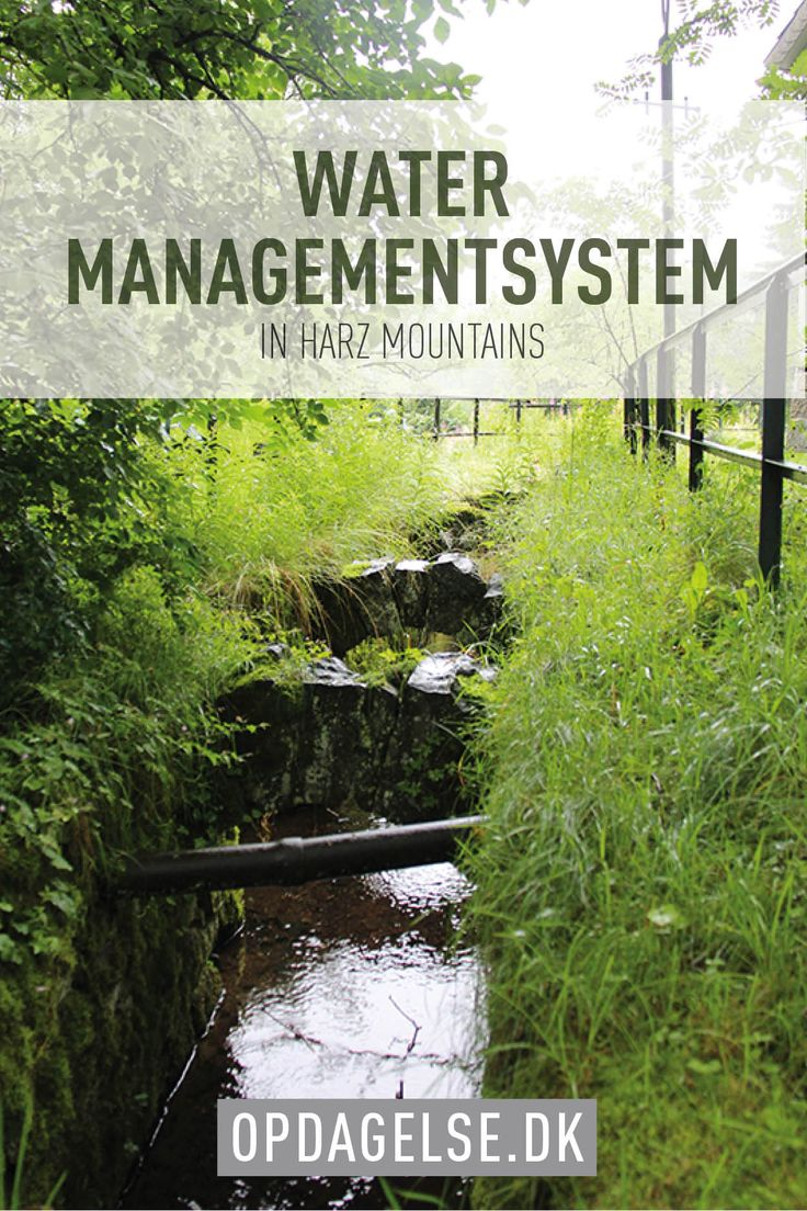 Water management system in Harz Mountains