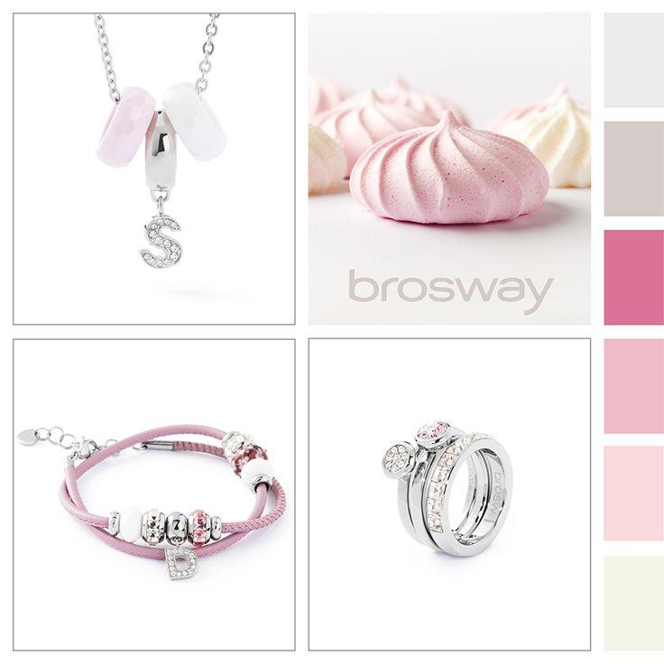 Ispirazione Colore: Nuvole di zucchero #BroswayJewels con #TrèsJolieMini #Bracciale, #TrèsJolie #Collana e #Tring #Anelli