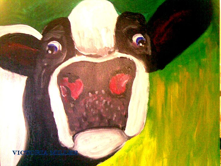 Missy is a wonderful cow l owned many years ago. Art by Victoria Miller