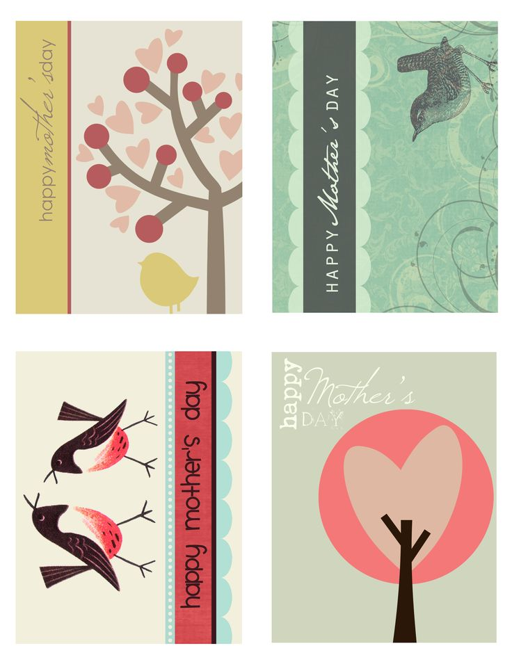 Mother's Day Cards - printable also has other cards for different occasions.