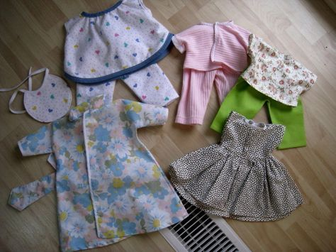 baby alive doll clothes patterns free   full set for Abbie's Our Generation doll... I still need to make the ...