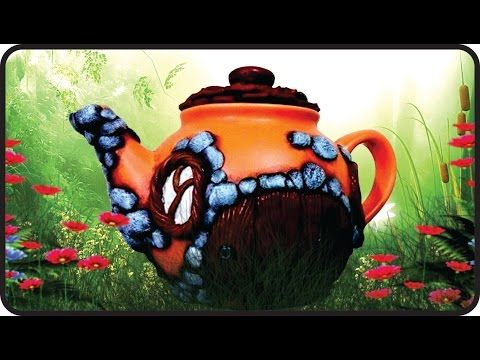 ❣DIY Fairy Garden Teapot House - Polymer Clay Tutorial❣ - YouTube