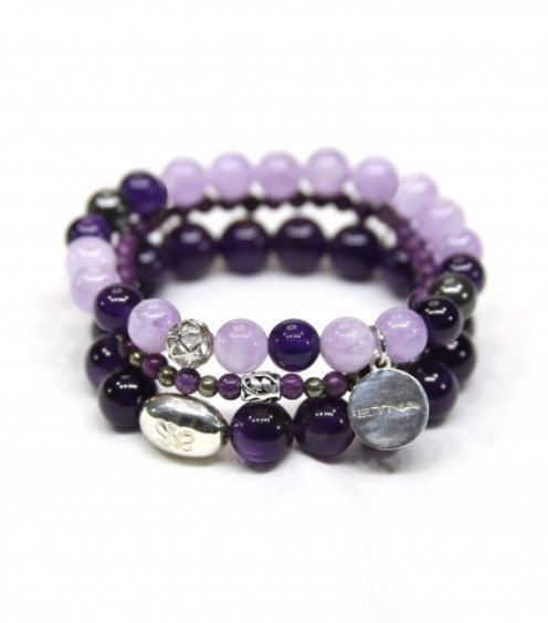 Stretch Bracelet/Stackable Bracelet/Gemstone by ETNAjewerly