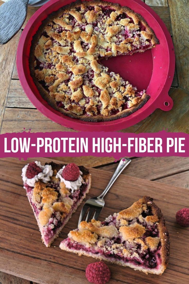 Low Protein High Fiber Pie Recipe Low Carb Desserts High