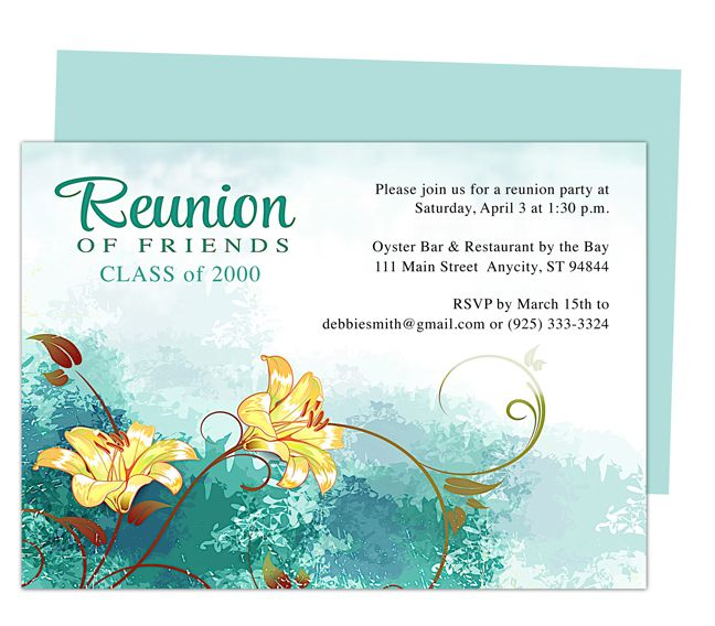 12 best images about Printable Family and Class Reunion Templates – Reunion Invitation Template