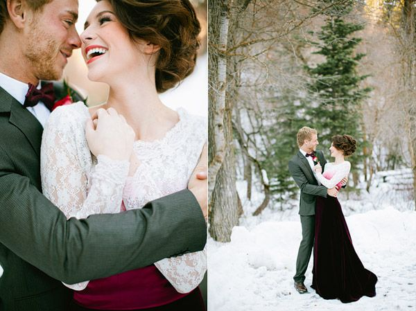 Magical Winter Proposal Shoot in the snow by Ciara Richardson